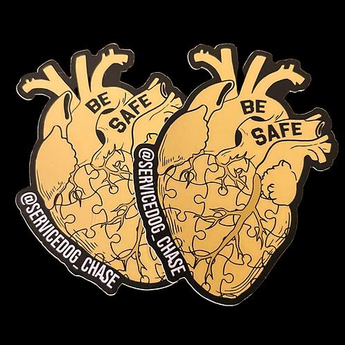 Heart of Gold Sticker 2 Pack