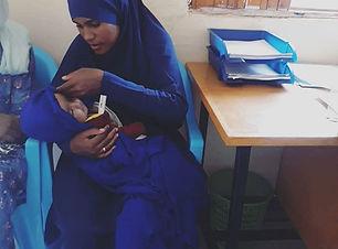 Samira and her lovely little boy, Abdul,