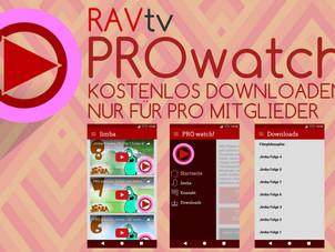 Wir haben jetzt eine Android App namens PROwatch mit allen PRO Funktionen!