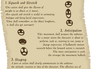 Thou shall keepeth the 12 principles of animation in mind.