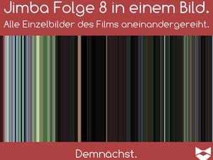 So wird Folge 8 aussehen. Die durchschnittliche Farbe von jedem Frame der Folge aneinandergereiht.