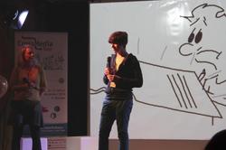 Valentin präsentiert sein Projekt