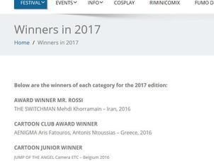 Wir gratulieren dem Gewinner und sind dankbar, dass wir beim Filmfestival Cartoon Club Rimini teilne