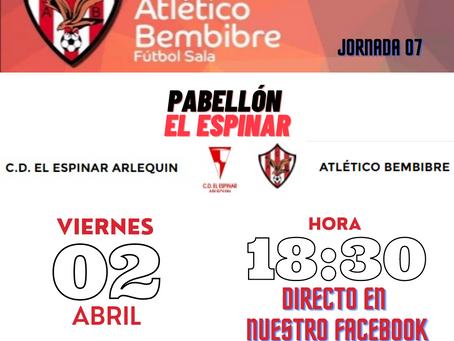 """El Atlético Bembibre F.S. """"Agua"""" la fiesta a El Espinar en su casa."""