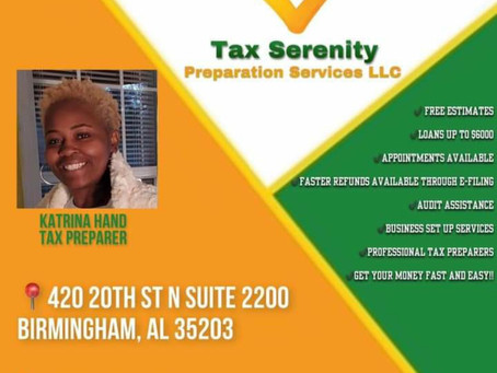 Katrina Hand joins Tax Serenity Preparation Services.