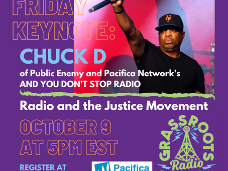 Chuck D will Give Keynote Speech at Grassroots Radio Conference 2020