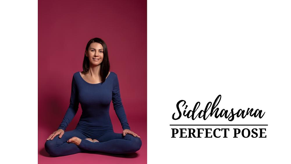 Young Woman doing Siddhasana - Perfect Pose - Yoga