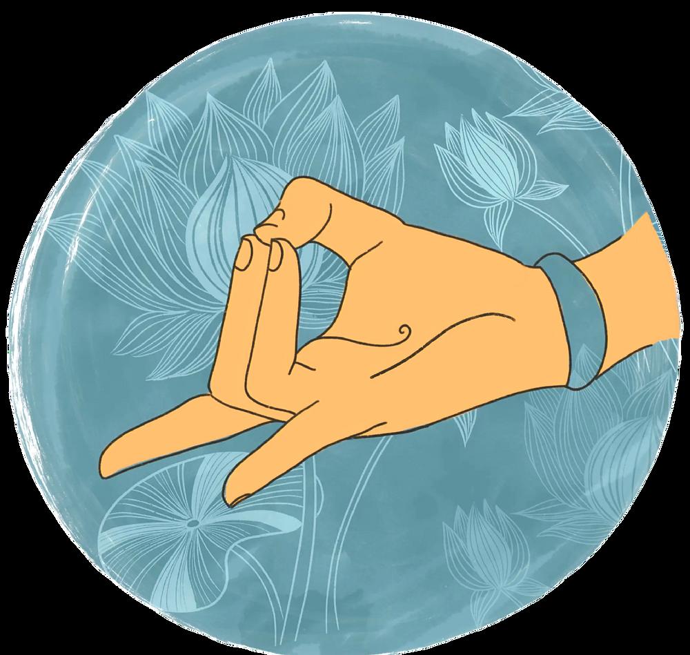 Apana Mudra illustration by Megha Patel for www.prana-sutra.com