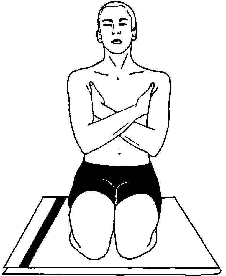 Illustration of a man doing Padadirasana