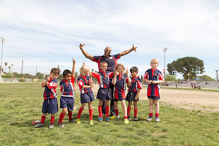 Rising Eagles U8 team.