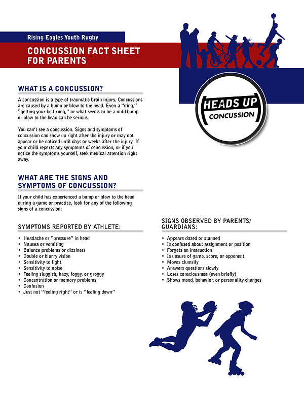 Concussion Fact Sheet for Parents