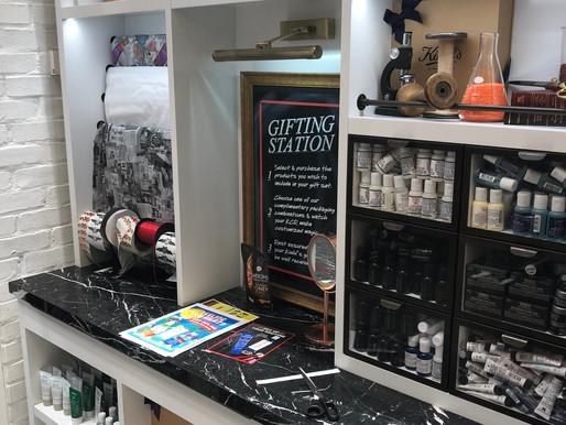 In-store cosmetic gifting