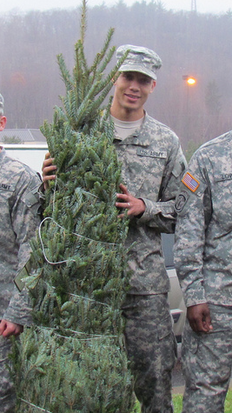 Thank you for your service!! We appreciate our troops through Trees for Troops.