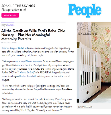 Willa Ford WFord Interiors Nursery