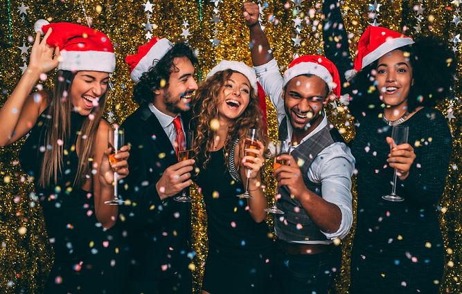Party i Santa hattar
