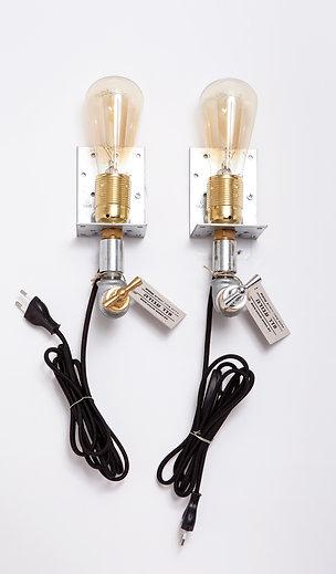 זוג מנורות קיר משולבות לחדר שינה 8*26*13