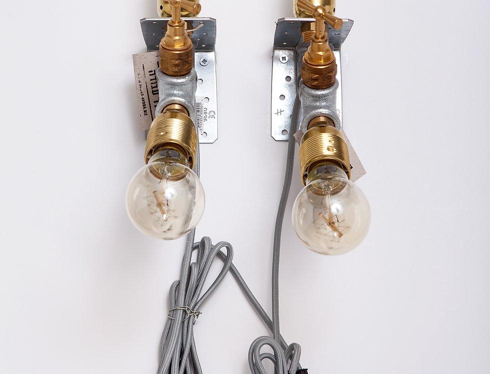 זוג מנורות קיר כפולות משולבות לחדר שינה 7*36*27