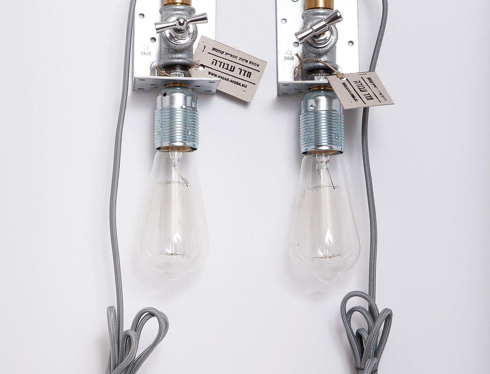 זוג מנורות קיר משולבות לחדר שינה 8*28*10