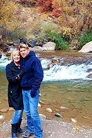 Zion National Park - Ro & Jo at the Virg