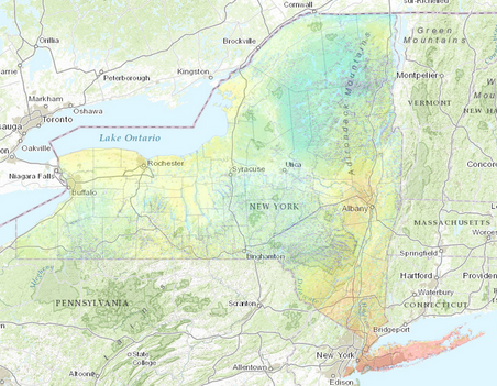 NYS Estimated Statewide Solar Radiation