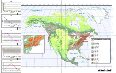 North American Canopy Profile Map