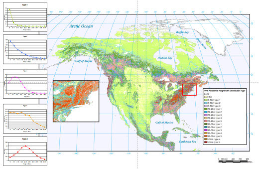 North American Canopy Profile Map