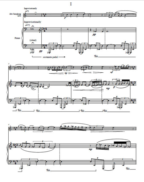 Music for Alto Saxophone and Piano (2006)