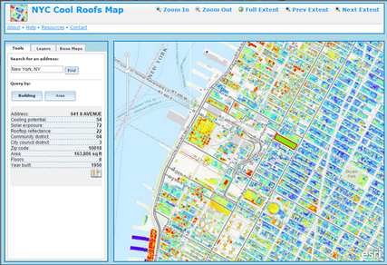 Map of NYC Cool Roofs Potential