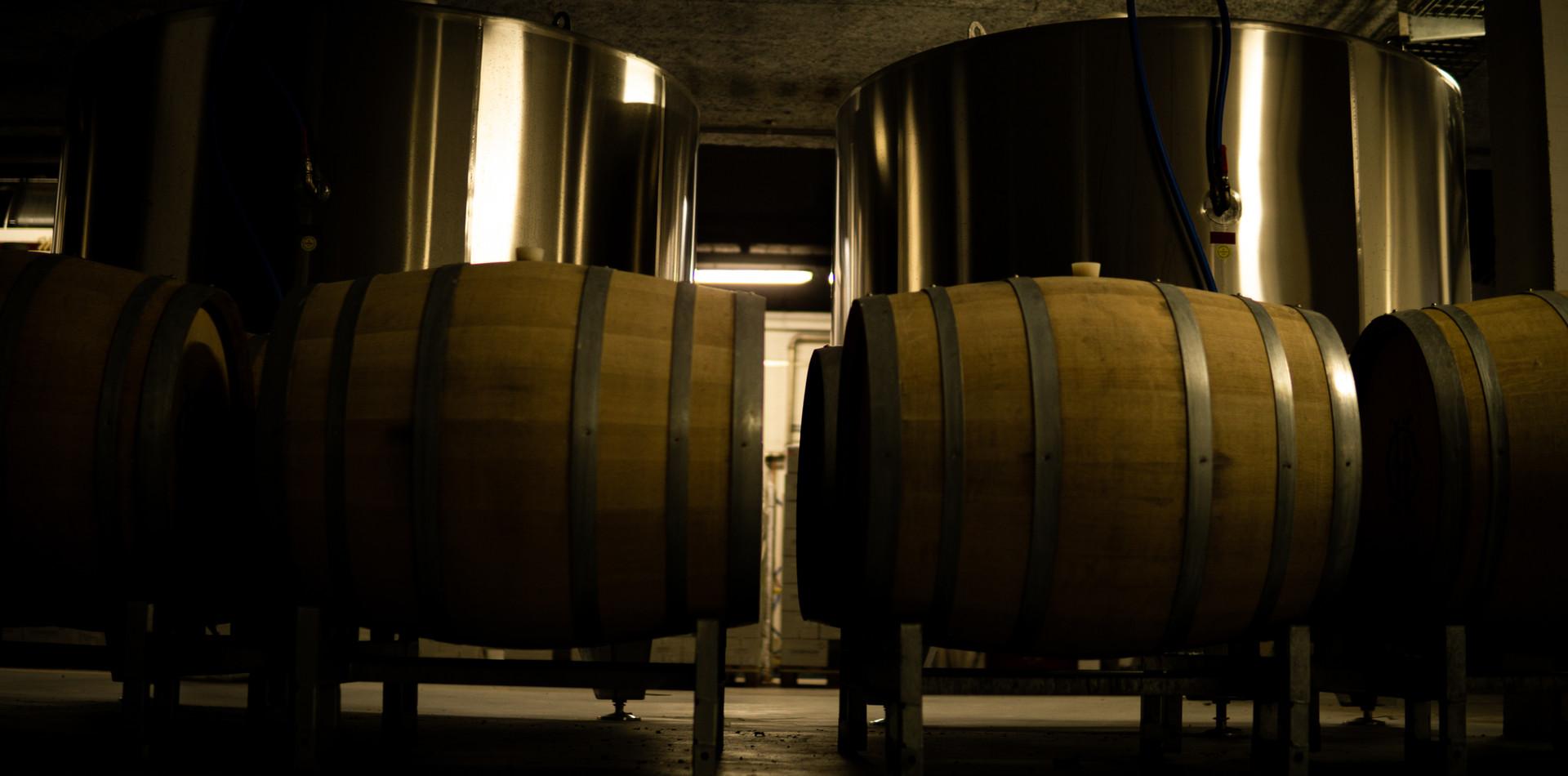 Aged in oak barrels