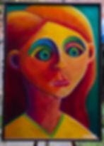 Eléonore Masson -peinture acrylique, portrait de Vassilissa (conte russe)