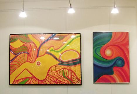 Eléonore Masson peinture acrylique champs spatio temporel abstrait