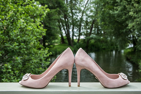 fun wedding photography, sopley mill, brides wedding shoes