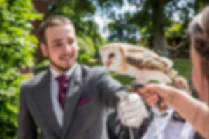 Wedding barn owl, owl ring delivery, elmers court wedding, southampton wedding venues, wedding photographer new forest