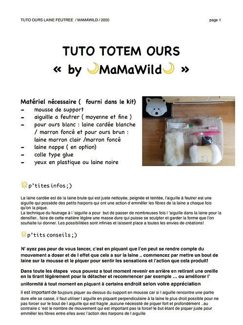Tutoriel totem Ours PDF seul ( ⚠️sans kit matériel)