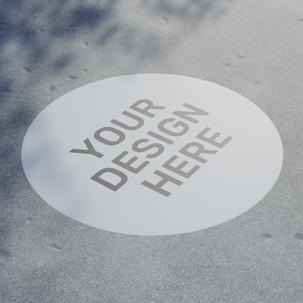 Sticker Floor Mockup