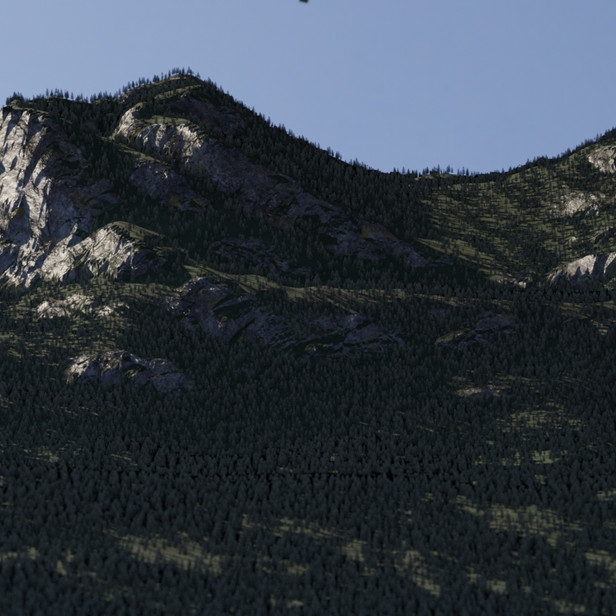 Render of a mountain