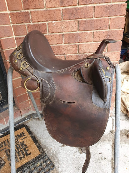 "17.5"" SYD HILL HORNED STOCK SADDLE"