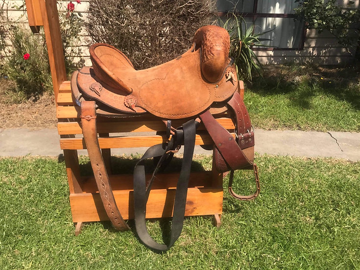 "17"" EDDIE POWELL BRONC SADDLE AND GEAR"