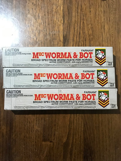 MEC  WORMA & BOT  x 3 tubes