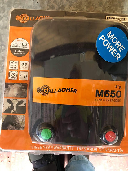 GALLAGHER M650 ELECTRIC FENCE ENERGISER