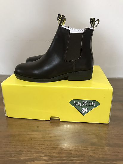Ladies 4 SAXON ESSENTIAL LEATHER BOOTS