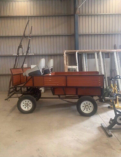 PROFESSIONAL BUILT ONE/TWO HORSE CART