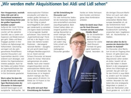 Germany: Interview Lebensmittelzeitung DRC Discount Retail Consulting GmbH