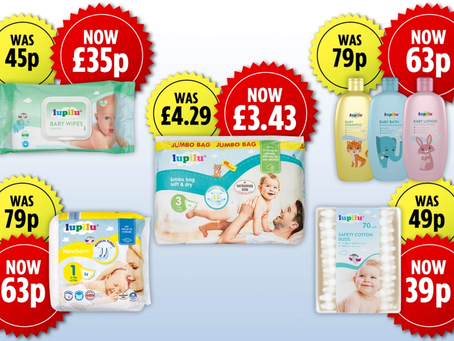 UK: Lidl slashes price on its private label baby products by 20% for Lidl Plus card users