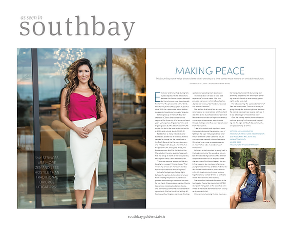 Southbay Magazine - Making Peace (Victor