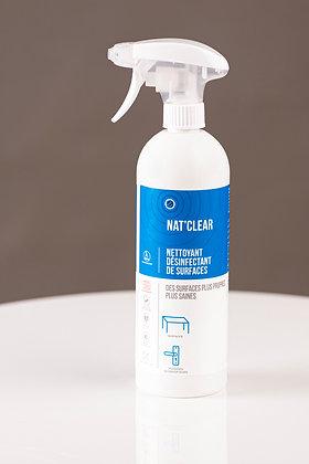 NAT CLEAR - Nettoyant désinfectant surfaces - 6x750ml