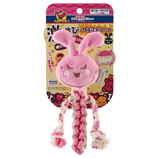 Гибридная игрушка из нежного флисаи прочного хлопка для игры и чистки зубов