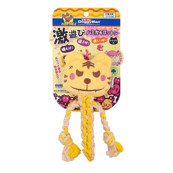 Гибридная игрушка из нежного флиса и прочного хлопка для игры и чистки зубов