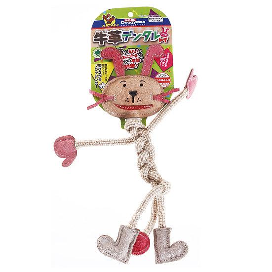 Супер кожаная игрушка для собак с крепкими хлопковыми канатами для чистки зубов