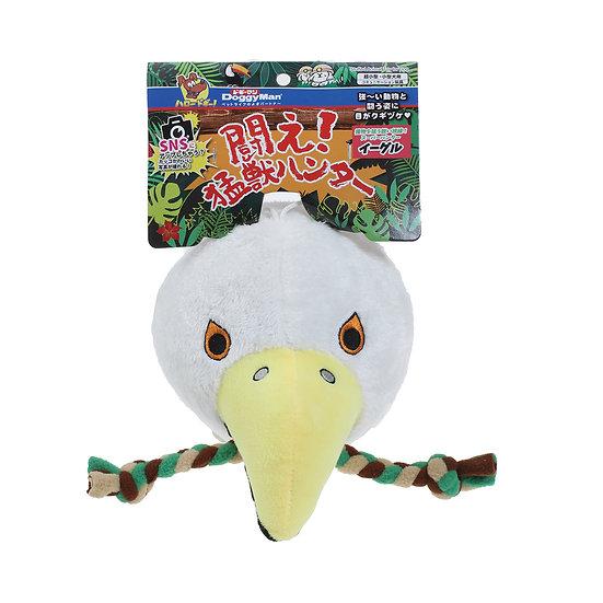 Большая мягкая игрушка в виде орла с функцией чистки зубов.